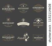 restaurant logos design... | Shutterstock .eps vector #1152114608