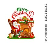 santa claus with christmas... | Shutterstock .eps vector #1152116162