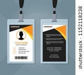 employee id card template | Shutterstock .eps vector #1152118238