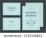 set wedding invitations... | Shutterstock .eps vector #1152126812