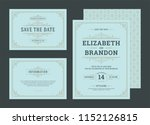 set wedding invitations... | Shutterstock .eps vector #1152126815