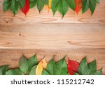 Background With Colored Leaves...