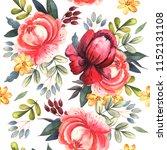 watercolor pattern of bright...   Shutterstock . vector #1152131108