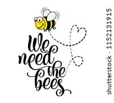 we need the bees   funny vector ... | Shutterstock .eps vector #1152131915