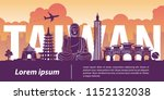 taiwan top famous landmark... | Shutterstock .eps vector #1152132038