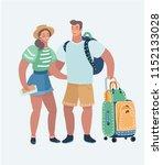 vector cartoon illustration of... | Shutterstock .eps vector #1152133028