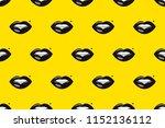 seamless pattern of lips ... | Shutterstock .eps vector #1152136112