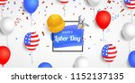 happy labor day banner with... | Shutterstock .eps vector #1152137135
