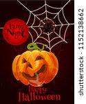 happy halloween greeting card... | Shutterstock .eps vector #1152138662