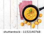 spanish potato omelette called...   Shutterstock . vector #1152140768