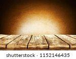 desk of free space and dark... | Shutterstock . vector #1152146435