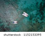 sailing catamaran. yachts and... | Shutterstock . vector #1152153395