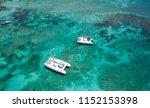sailing catamaran. yachts and... | Shutterstock . vector #1152153398