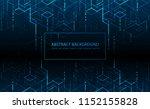 vector illustration. digital... | Shutterstock .eps vector #1152155828