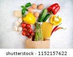healthy food background.... | Shutterstock . vector #1152157622