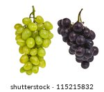 bunch of grapes isolated on... | Shutterstock . vector #115215832