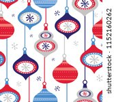 seamless decoration christmas... | Shutterstock .eps vector #1152160262