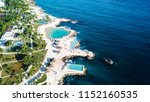 pools on the rocky coast of the ... | Shutterstock . vector #1152160535