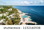 pools on the rocky coast of the ... | Shutterstock . vector #1152160538