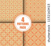 beautiful  vintage pattern... | Shutterstock .eps vector #1152163415
