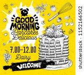 good morning pancakes delicious ...   Shutterstock .eps vector #1152166502
