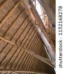 bamboo roof construction. roof... | Shutterstock . vector #1152168278
