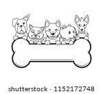 vector cartoon character dogs... | Shutterstock .eps vector #1152172748