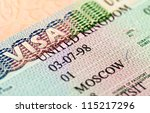british visa entry and exit... | Shutterstock . vector #115217296