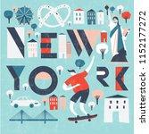 New York. Usa. Print Design