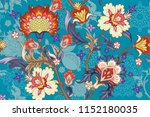 seamless pattern with stylized... | Shutterstock .eps vector #1152180035