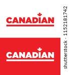 vector canadian word mark | Shutterstock .eps vector #1152181742