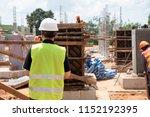 construction engineer...   Shutterstock . vector #1152192395