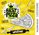 best pizza master restaurant... | Shutterstock .eps vector #1152193382
