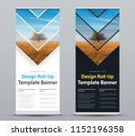 vector design of roll up banner ... | Shutterstock .eps vector #1152196358