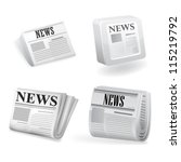 newspaper icon. vector | Shutterstock .eps vector #115219792