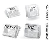 newspaper icon. vector | Shutterstock .eps vector #115219792