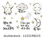 baby cute print elements. cloud ... | Shutterstock .eps vector #1152198215