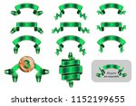 ribbons and banners set with... | Shutterstock .eps vector #1152199655