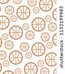 vector basketball pattern | Shutterstock .eps vector #1152199985
