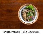 spicy thai mackerel salad  is... | Shutterstock . vector #1152201008
