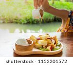 the children who are pouring... | Shutterstock . vector #1152201572