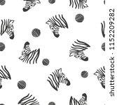 black and white seamless... | Shutterstock .eps vector #1152209282