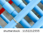 blue fire water pipes on the... | Shutterstock . vector #1152212555