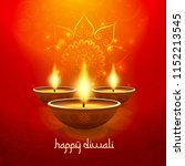 diwali light candle background... | Shutterstock .eps vector #1152213545