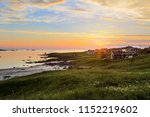 beautiful summer evening sunset ... | Shutterstock . vector #1152219602