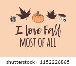 hand drawn autumn illustration... | Shutterstock .eps vector #1152226865