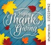 thanksgiving vector background... | Shutterstock .eps vector #1152234962