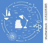 scientific  education elements. ... | Shutterstock .eps vector #1152235385