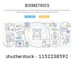 line banner of biometrics.... | Shutterstock .eps vector #1152238592