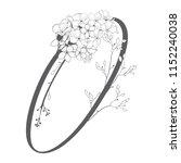 vector hand drawn flowered o...   Shutterstock .eps vector #1152240038